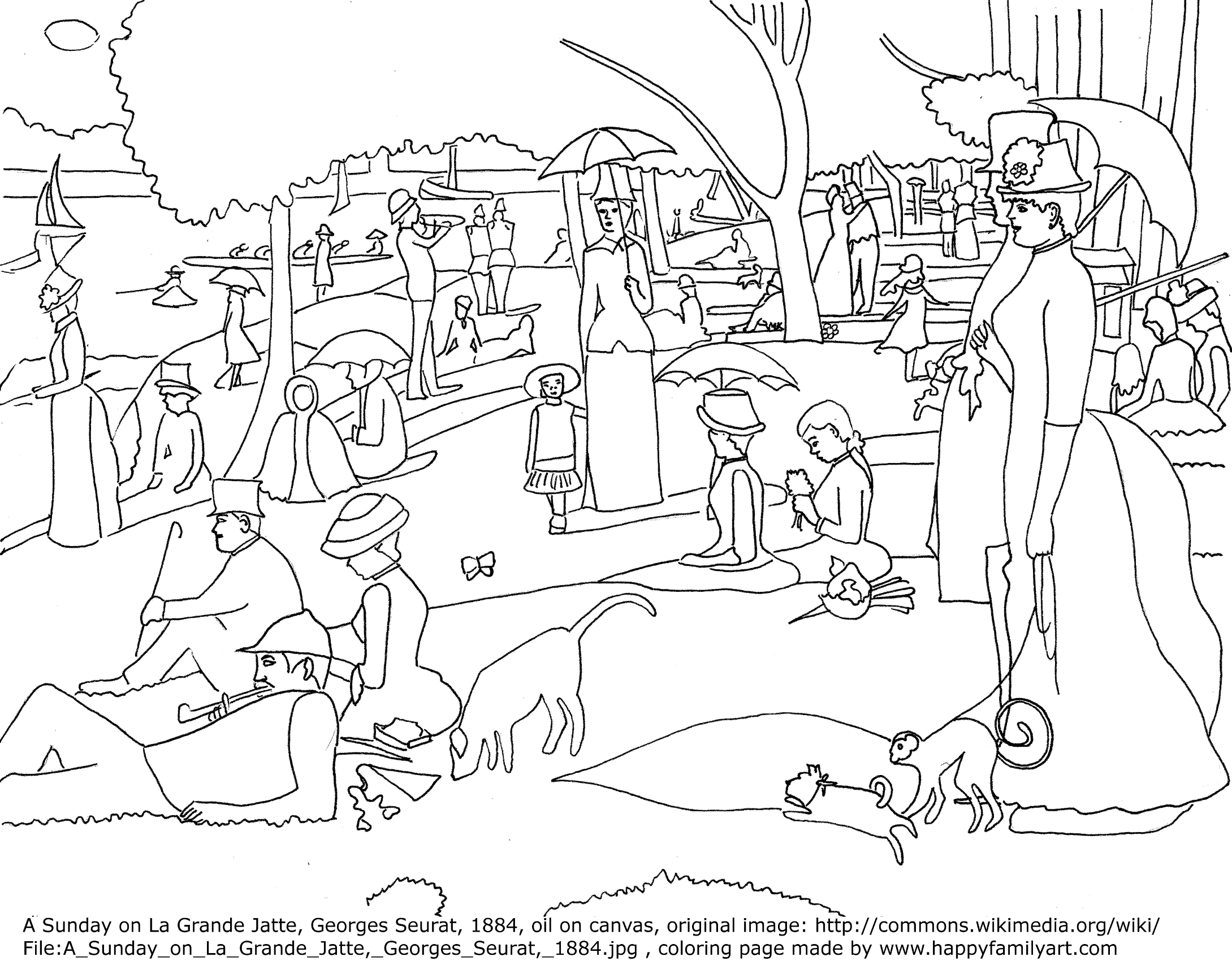 George Seurat Coloring Pages #2