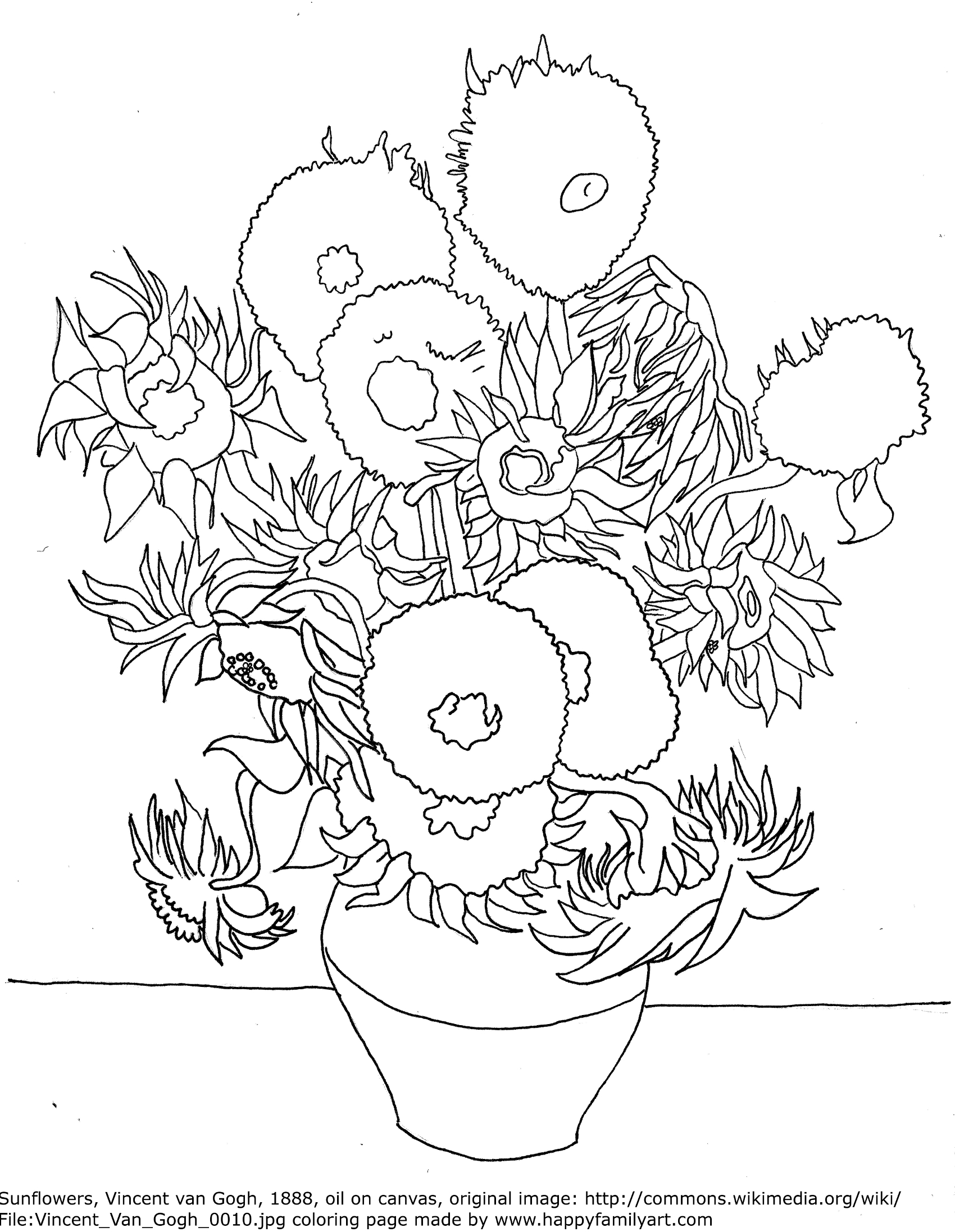 Famous paintings coloring pages  Free Coloring Pages